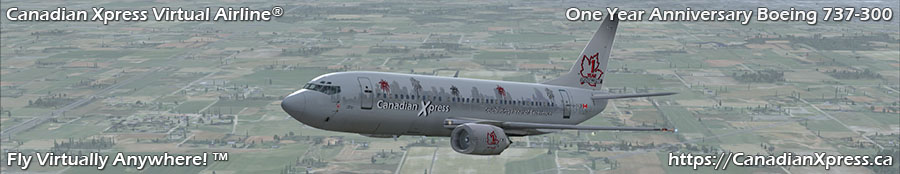 Canadian Xpress® One Year Anniversary Boeing 737-300