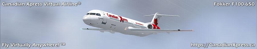 Canadian Xpress® Fokker F100-650