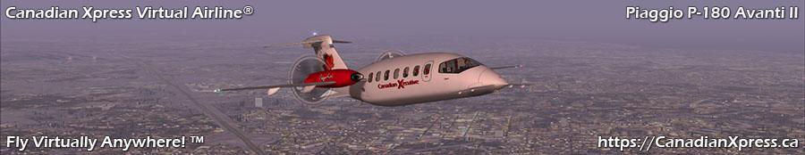 Canadian Xpress® Piaggio P-180 Avanti II