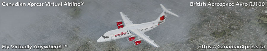 Canadian Xpress® British Aerospace Avro RJ100