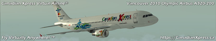Canadian Xpress® Vancouver 2010 Olympic Livery Airbus A320-200